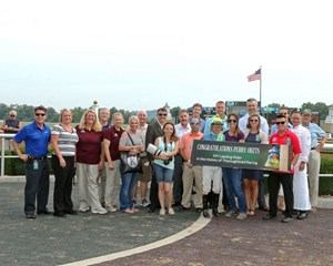 Belterra Park celebrated a milestone win by Perry Ouzts last year