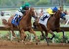 Stellar Wind and Vale Dori duel to the wire in the Clement L. Hirsch at Del Mar