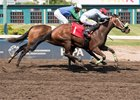 Emma Jean Too wins the Princess Margaret Stakes July 29 at Northlands Park