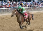Keen Ice winning the Suburban Handicap in July at Belmont Park
