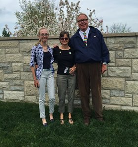 Ben Walden Jr. and his wife, Elaine, and daughter, Hope, at Keeneland