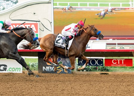 Speedway Stable's Collected and jockey Martin Garcia win the G1, $1,000,000 TVG Pacific Classic, Saturday, August 19, 2017 at Del Mar Thoroughbred Club, Del Mar CA.