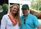 Renee Dailey with Tom VanMeter at the Saratoga sale