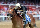 Aveenu Malcainu wins the Funny Cide Stakes at Saratoga Race Course