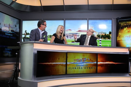 l-r, Aaron Vercruysse, Millie Ball, Jeff Siegel. Scenes from the XBTV studio and XBTV talent and cameramen on location. April 1, 2016 in , California.