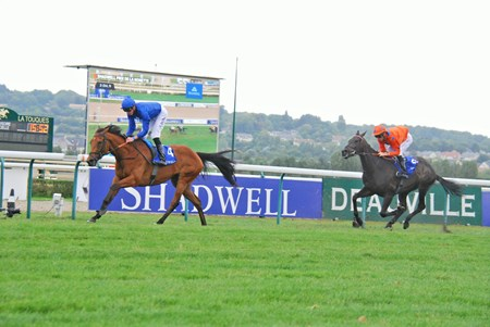 Sobetsu winning the Group 11 Shadwell Prix de La Nonette at Deauville