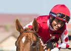 Skye Diamonds after her victory in the Rancho Bernardo Handicap at Del Mar