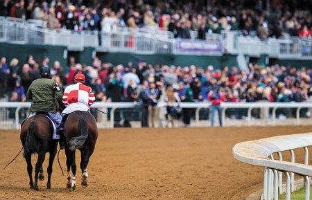 Caption: Songbird with jockey Mike Smith wins