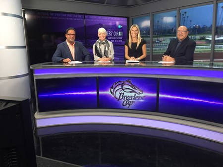 l-r, Aaron Vercruysse, Zoe Cadman, Millie Ball, Jeff Siegel. Scenes from the XBTV studio and XBTV talent and cameramen on location. Oct. 27, 2016 in , California.
