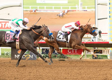 Collected wins the 2017 TVG Pacific Classic (G1)