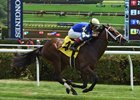 Orbolution breaks her maiden in a turf maiden race July 23 at Saratoga