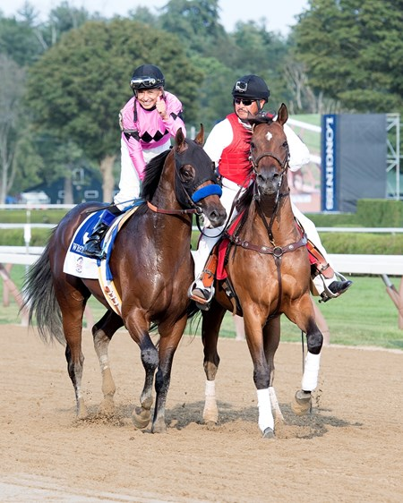 West Coast with Mike Smith wins Travers at Saratoga racecourse in Saratoga Springs, N.Y. on Aug. 26, 2017