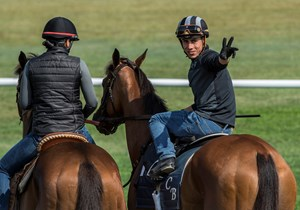 Jockey Irad Ortiz Jr. (right)