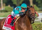 Lady Eli digs deep to score a determined victory in the Ballston Spa at Saratoga Race Course