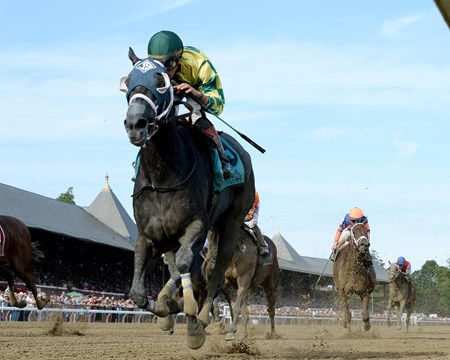 Picco Uno wins the 2017 Union Avenue Stakes