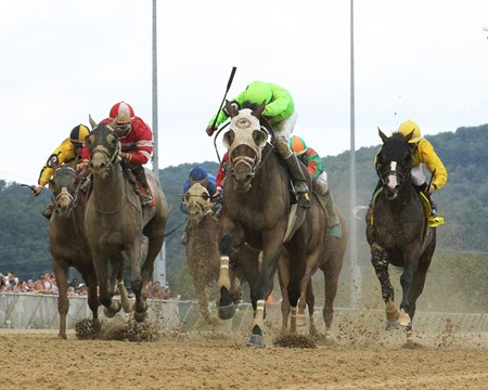 Fear the Cowboy wins the 2017 West Virginia Governor's Stakes