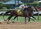 Joel Rosario and Forever Unbridled edge champion Songbird in the Aug. 26 Personal Ensign Stakes at Saratoga Race Course