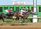 Tiger Moth wins the Ellis Park's Groupie Doll Stakes