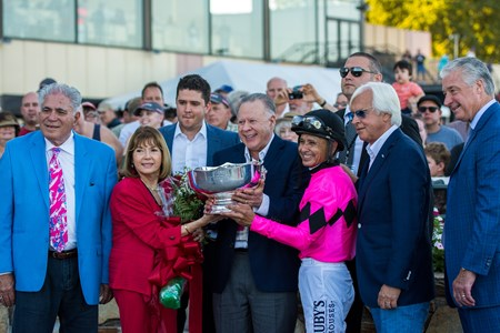 West Coast with Mike Smith up wins the Pennsylvania Derby(G.I) at Parx on September 23rd, 2017
