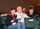 Kerri Radcliffe (left) with Eric Fein (center) at the Keeneland September yearling sale