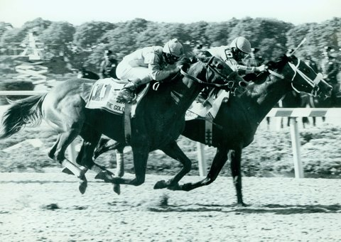 Hansel holds off Strike the Gold in the 1991 Belmont Stakes