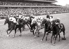 Ta Wee leads home a cavalry charge in the 1969 Vosburgh Handicap