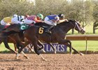 Analyze the Odds grinds out a win in the New York Breeders' Futurity Stakes at Finger Lakes