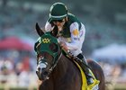 Bolt d'Oro and jockey Corey Nakatani win the FrontRunner Stakes at Santa Anita Park