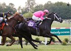 Hogy reels in Commend to take the Kentucky Downs Turf Sprint Stakes