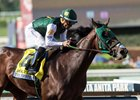 Bolt d'Oro coasts to a 7 3/4-length victory in the FrontRunner Stakes