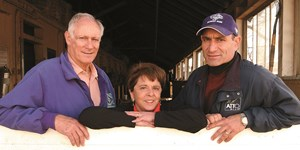 From left, Paul, Jane, and Rich Schosberg
