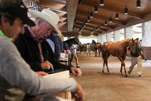 Keeneland's Book 5 was in full swing Sept. 20 with much action in the back ring