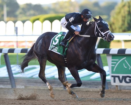 Sharp Azeteca, dominant in the Kelso, wins by four lengths over Divining Rod at Belmont Park Sept. 23