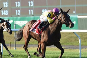 Fourstar Crook kicks away to win the John Hettinger by 3 1/2 lengths at Belmont Park