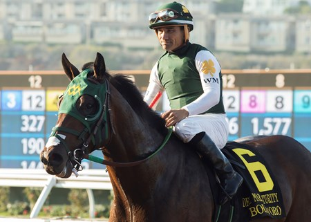 Bolt d'Oro wins the 2017 Del Mar Futurity (G1)