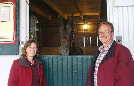 Dr. Greg and Beth Fowler with Hip 511, a Cairo Prince colt who sold for $200,000