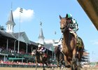 Romantic Vision wins the Sept. 16 Locust Grove Stakes at Churchill Downs