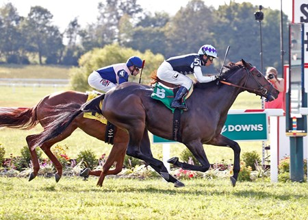 Miss Temple City wins the 2017 Kentucky Downs Ladies Turf