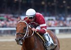Gun Runner draws off to win the Woodward Stakes