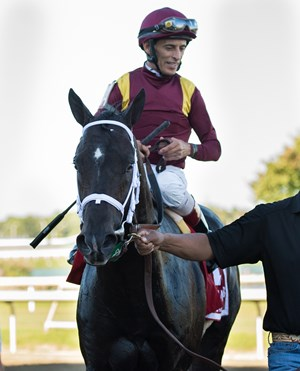 Coal Front after winning the Sept. 23 Gallant Bob Stakes at Parx Racing