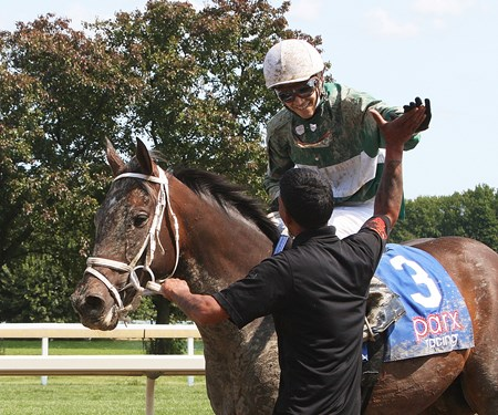 Jockey Johan Rosado #3 aboard Tripocha won his  very first race ever on September 10, 2017 at Parx Racing in  Bensalem, Pennsylvania. Johan defeated a field of 6 others including his own father Roberto Rosado. Second place was #1 Appealingmagic with Mychel Sanchez up.