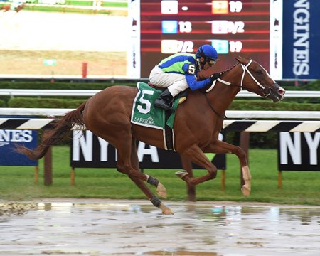 Vertical Oak wins the Prioress by 5 1/4 lengths at Saratoga Race Course