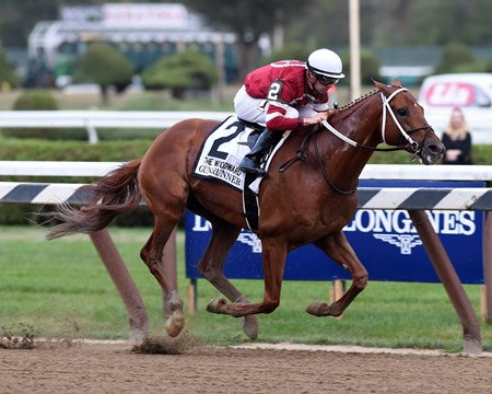 Gun Runner wins the 2017 Woodward