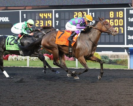 Ami's Mesa wins the 2017 Presque Isle Downs Masters Stakes (G2)