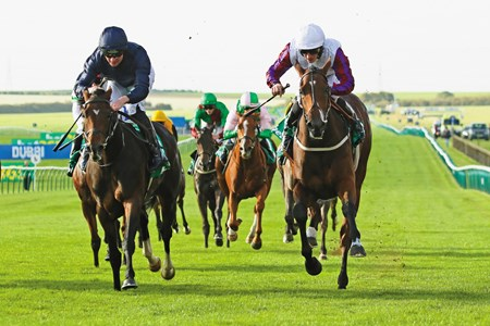 "LAURENS (right) ridden by P.J. McDonald beating September in The bet365 Fillies' Mile (Group 1) at Newmarket 13/10/17 Photo: Ian Headington / Racingfotos.com  THIS IMAGE IS SOURCED FROM AND MUST BE BYLINED ""RACINGFOTOS.COM"""