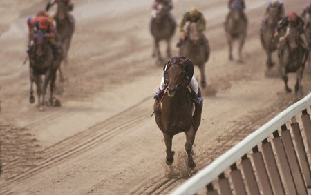 Inside Information takes the 1995 Breeders' Cup Distaff by a record 13 1/2 lengths