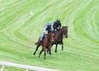 Lady Aurelia (inside) works in company with Childhood Oct. 3 at Keeneland