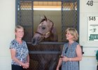 Turtle Pond Farm's Carol Hershe and co-breeder Wendy Christ with the Oct. 11 session-topping Uncaptured filly