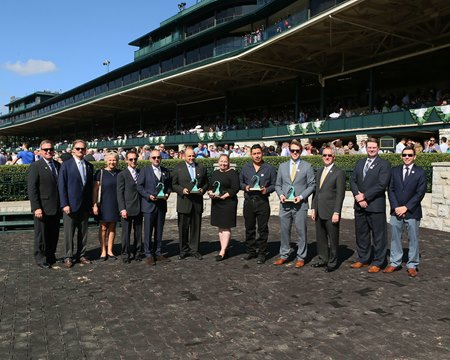 The 2017 winners of Thoroughbred Industry Employee Awards at Keeneland Oct. 13