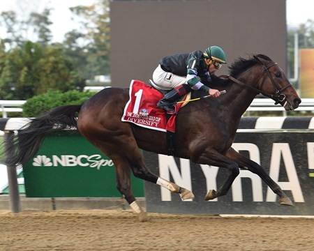 Diversify wins the 2017 Jockey Club Gold Cup